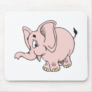 cute baby pink elephant mouse pad