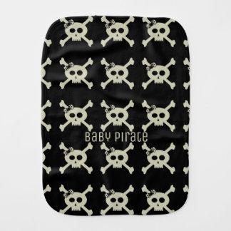 Cute Baby Pirate Skull Pattern Burp Cloth