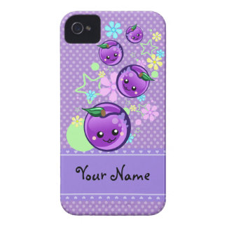 Cute Baby Plums - Personalize iPhone 4 iPhone 4 Case-Mate Case