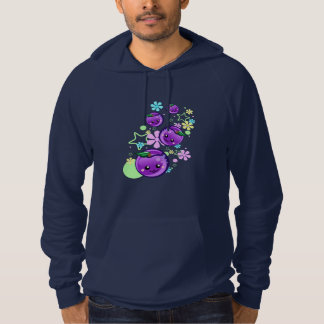 Cute Baby Plums with Flowers and Stars Hoodie