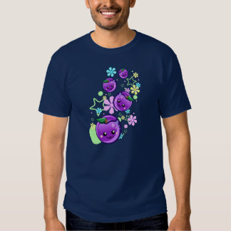 Cute Baby Plums with Flowers and Stars Tee Shirt
