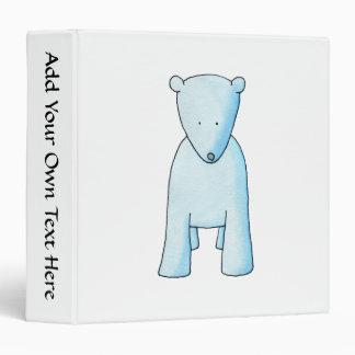 Cute Baby Polar Bear. 3 Ring Binder