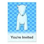 Cute baby polar bear. 5x7 paper invitation card