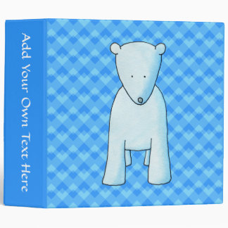 Cute baby polar bear. binder