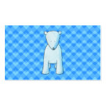 Cute baby polar bear. Double-Sided standard business cards (Pack of 100)