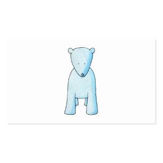 Cute Baby Polar Bear. Business Cards