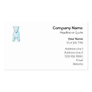 Cute Baby Polar Bear. Business Card Templates