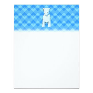 Cute baby polar bear. card