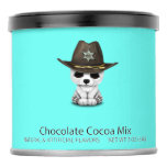 Cute Baby Polar Bear Cub Sheriff Hot Chocolate Drink Mix