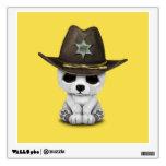 Cute Baby Polar Bear Cub Sheriff Wall Sticker