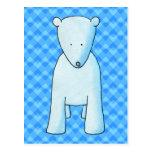 Cute baby polar bear. postcard