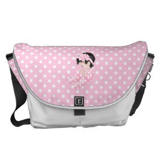 Cute Baby Polka Dot Pink White Diaper Nappy Messenger Bag