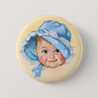 Cute Baby Portrait Button