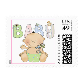 Cute Baby Postage Stamps