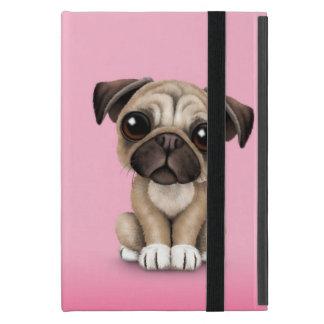 Cute Baby Pug Puppy Dog on Pink iPad Mini Cases