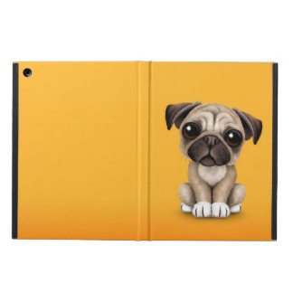 Cute Baby Pug Puppy Dog on Yellow Case For iPad Air