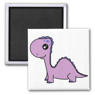 Cute Baby Purple Dinosaur Magnet