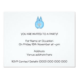Cute Baby Rabbit. 4.25x5.5 Paper Invitation Card