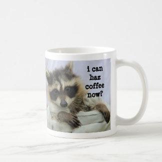 Cute Baby Raccoon Mug, I can haz coffee now? Coffee Mug