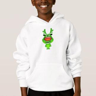 Cute baby reindeer christmas comic hoodie