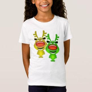 Cute baby reindeer christmas comic T-Shirt