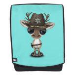Cute Baby Reindeer Sheriff Backpack