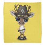 Cute Baby Reindeer Sheriff Bandana