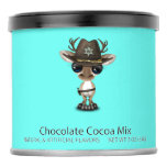 Cute Baby Reindeer Sheriff Hot Chocolate Drink Mix