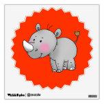 cute baby rhino room sticker