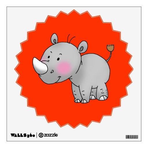 cute baby rhino wall decals