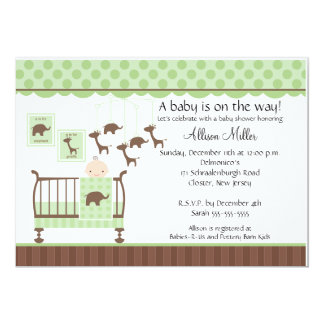 Cute Baby room Neutral Baby Shower Invitation