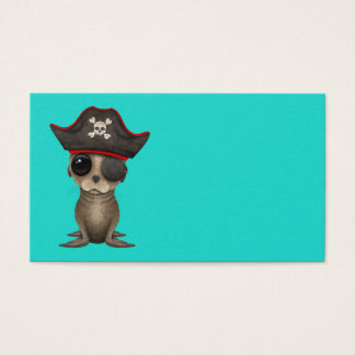 Cute Baby Sea lion Pirate Business Card