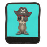 Cute Baby Sea lion Pirate Luggage Handle Wrap