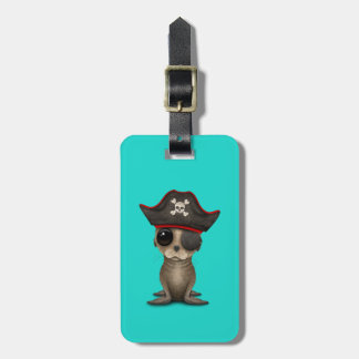 Cute Baby Sea lion Pirate Luggage Tag