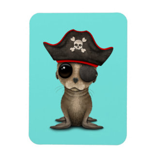 Cute Baby Sea lion Pirate Magnet