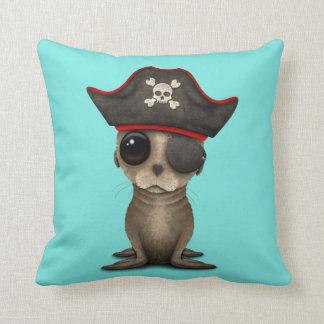Cute Baby Sea lion Pirate Throw Pillow