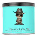 Cute Baby Sea Lion Sheriff Hot Chocolate Drink Mix