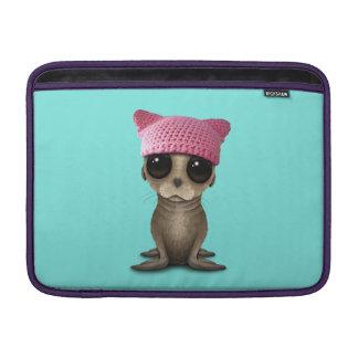 Cute Baby Sea Lion Wearing Pussy Hat MacBook Air Sleeve