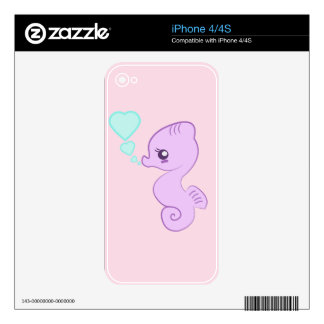 Cute Baby Seahorse iPhone skin Decals For The iPhone 4S
