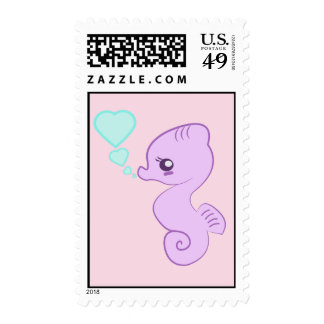 Cute Baby Seahorse stamps