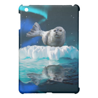 Cute Baby Seal, Aurora & Ice Floe iPad Case