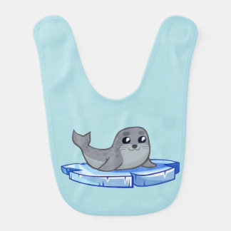 Cute baby seal cartoon baby bib