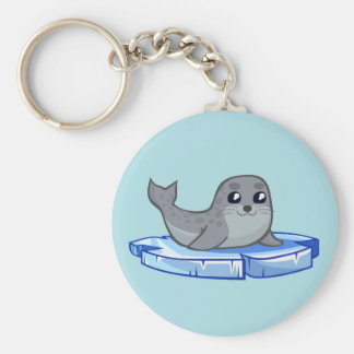 Cute baby seal cartoon keychain