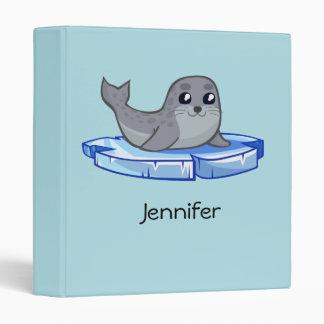 Cute baby seal cartoon kids binder