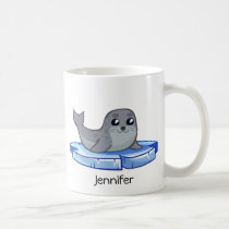 Cute baby seal cartoon kids coffee mug