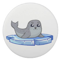 Cute baby seal cartoon kids eraser