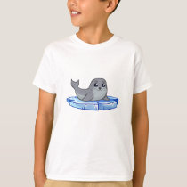 Cute baby seal cartoon kids shirt