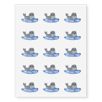 Cute baby seal cartoon kids temporary tattoos