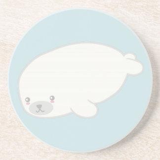 Cute Baby Seal Drink Coaster