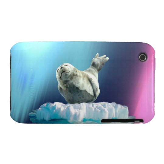 Cute Baby Seal Fantasy Art Wildlife iPhone 3 Case